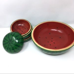 Other - Watermelon wood bowl set